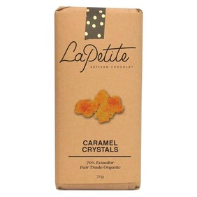 La Petit Caramel Crystals Dark Chocolate